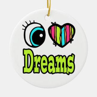 Sueños brillantes del amor del corazón I del ojo Adorno Para Reyes