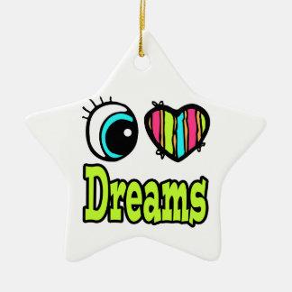 Sueños brillantes del amor del corazón I del ojo Ornato