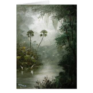 Sueños brumosos del río felicitación