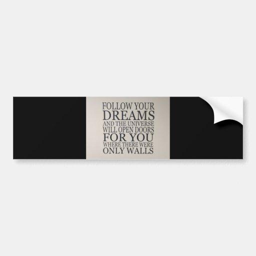sueños etiqueta de parachoque