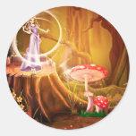 Sueños caprichosos del destino de la fantasía del etiqueta redonda