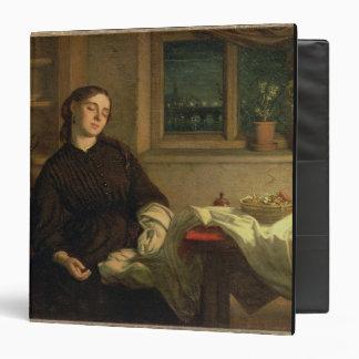 """Sueños caseros, 1869 (aceite en la lona colocada carpeta 1 1/2"""""""