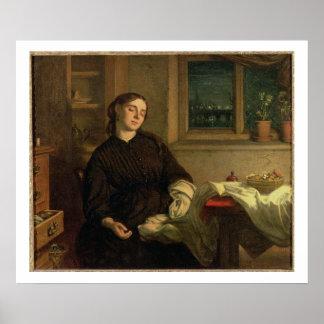 Sueños caseros, 1869 (aceite en la lona colocada e póster