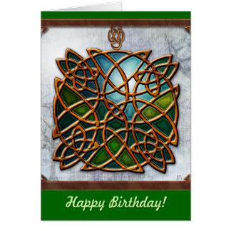 Sueños célticos tarjeta de cumpleaños