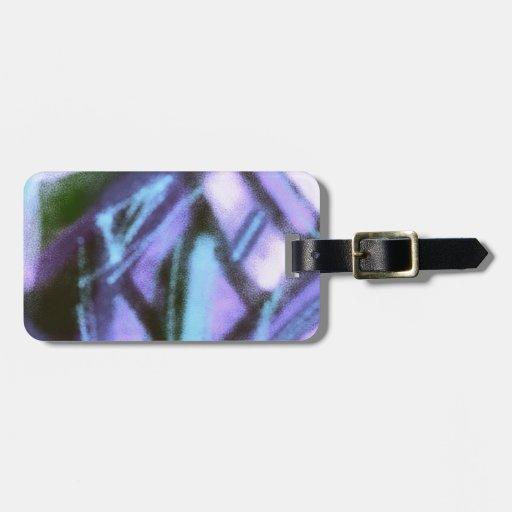 sueños coloridos, azules etiquetas para maletas