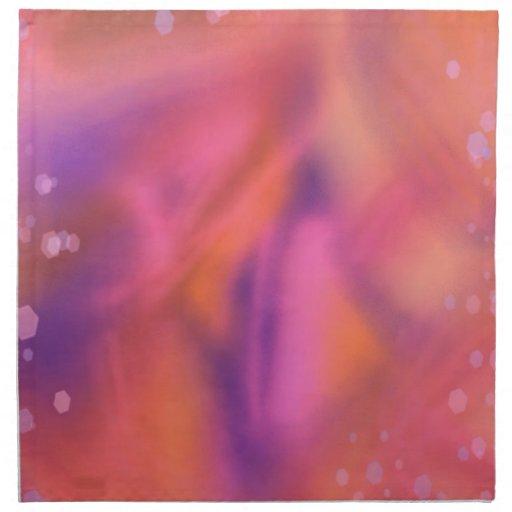 sueños coloridos, naranja servilletas imprimidas