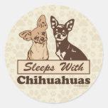 Sueños con las chihuahuas etiquetas redondas
