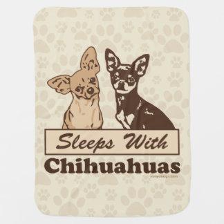 Sueños con las chihuahuas manta de bebé