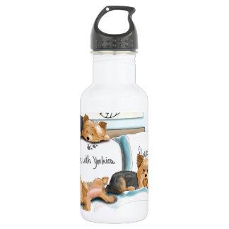 Sueños con Yorkies de Catia Cho Botella De Agua De Acero Inoxidable