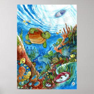 Sueños coralinos póster