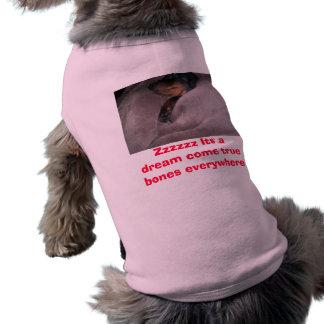 Sueños de Daschund Playera Sin Mangas Para Perro