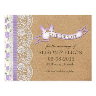 Sueños de encaje románticos con las flores postales