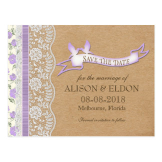 Sueños de encaje románticos con las flores tarjetas postales