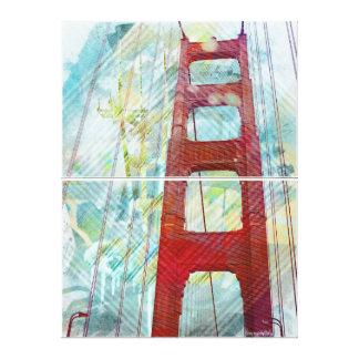 Sueños de GoldenGateBridge en San Francisco Impresión En Lienzo Estirada