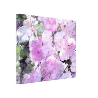 Sueños de la acuarela en lona envuelta violeta impresiones en lienzo estiradas