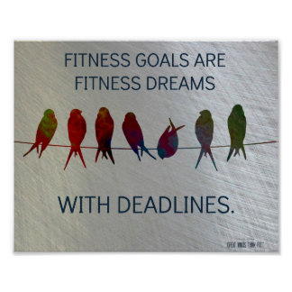 Sueños de la aptitud con plazos: Motivación Posters