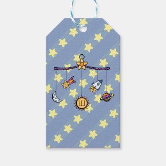 Sueños de la etiqueta móvil del regalo del espacio etiquetas para regalos