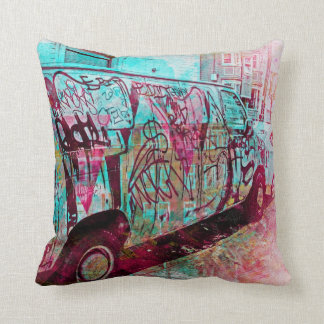 Sueños de la furgoneta-uno-graff en el sanfran de cojín
