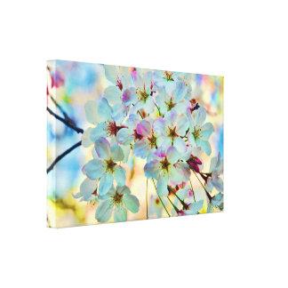 Sueños de la impresión estirada flores de cerezo d impresión en lona