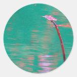 Sueños de la libélula pegatinas redondas