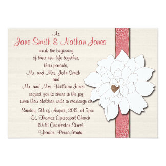 """Sueños de la magnolia invitación 5.5"""" x 7.5"""""""