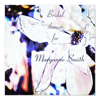 Sueños de la magnolia - la ducha nupcial artística invitación personalizada