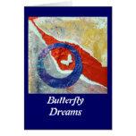 Sueños de la mariposa - collage tarjetón