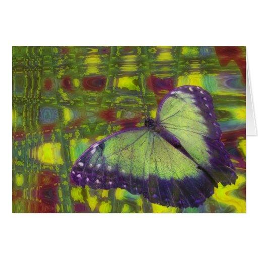 Sueños de la mariposa tarjeta de felicitación