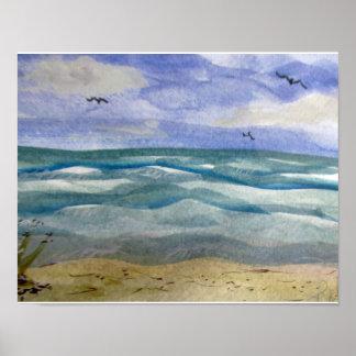 Sueños de la playa póster