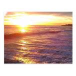 Sueños de la puesta del sol postal