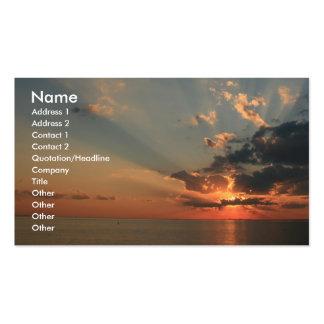 Sueños de la puesta del sol tarjetas de visita