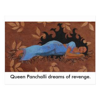 Sueños de la reina Panchalli de la venganza Postales