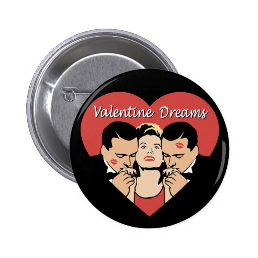 Sueños de la tarjeta del día de San Valentín Pin