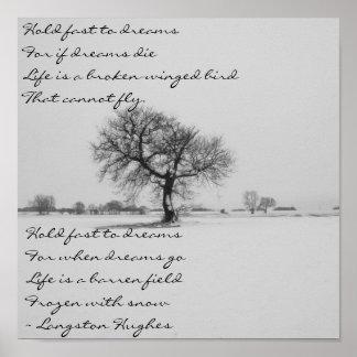 Sueños de Langston Hughes Póster