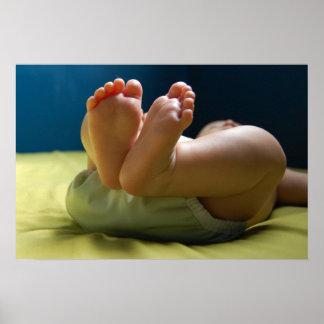 Sueños de los pies del bebé póster