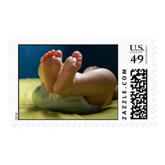Sueños de los pies del bebé timbres postales