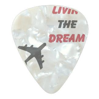 Sueños de Pickin Púa De Guitarra Celuloide Nacarado
