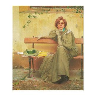 Sueños de Vittorio Matteo Corcos 1896 Impresión En Lienzo Estirada