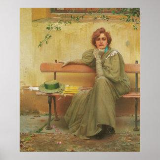Sueños de Vittorio Matteo Corcos 1896 Póster