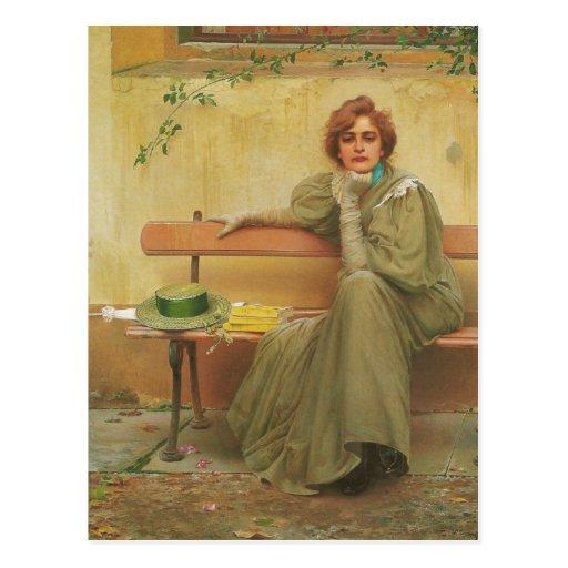 Sueños de Vittorio Matteo Corcos 1896 Tarjetas Postales