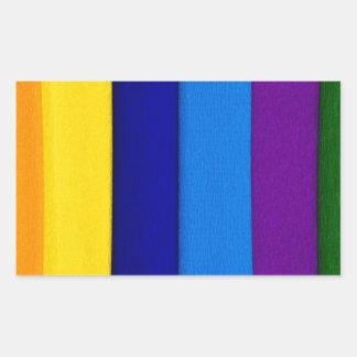 Sueños del arco iris rectangular pegatinas