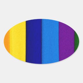 Sueños del arco iris colcomanias de oval