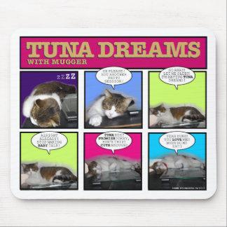 Sueños del atún con el asaltante alfombrillas de ratón