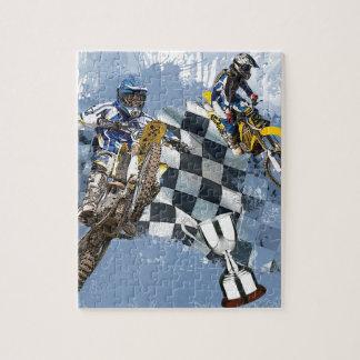 Sueños del azul del motocrós puzzles con fotos