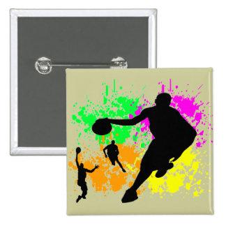 Sueños del baloncesto pin cuadrada 5 cm