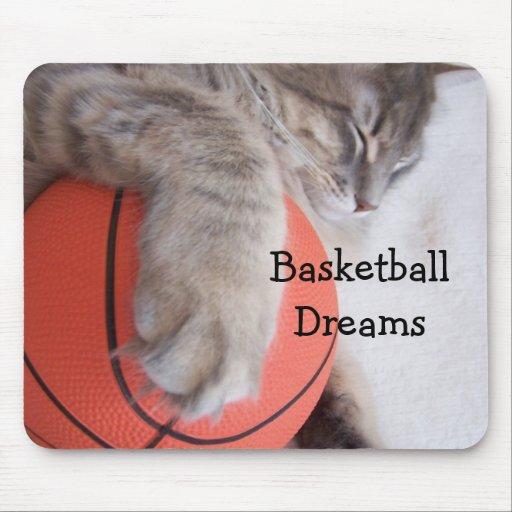Sueños del baloncesto, tapete de raton