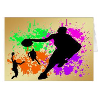 Sueños del baloncesto tarjeta de felicitación