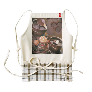 Sueños del chocolate delantal zazzle HEART