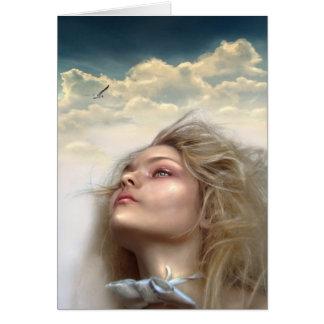Sueños del cielo tarjeta de felicitación