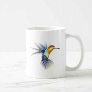 Sueños del colibrí taza básica blanca